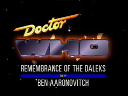 "October 5, 1988: Doctor Who in ""Remembrance of the Daleks"""